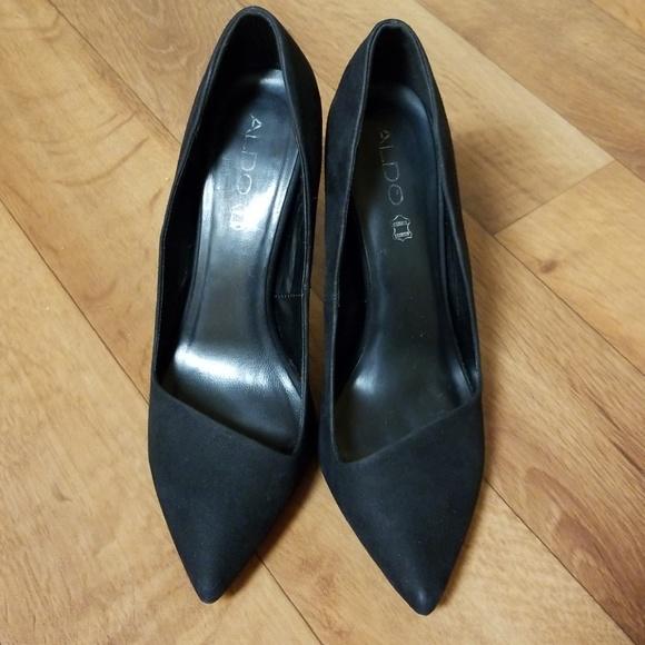 20132847fe37 Aldo Shoes - ALDO CASSEDY Black Nubuck High Heels